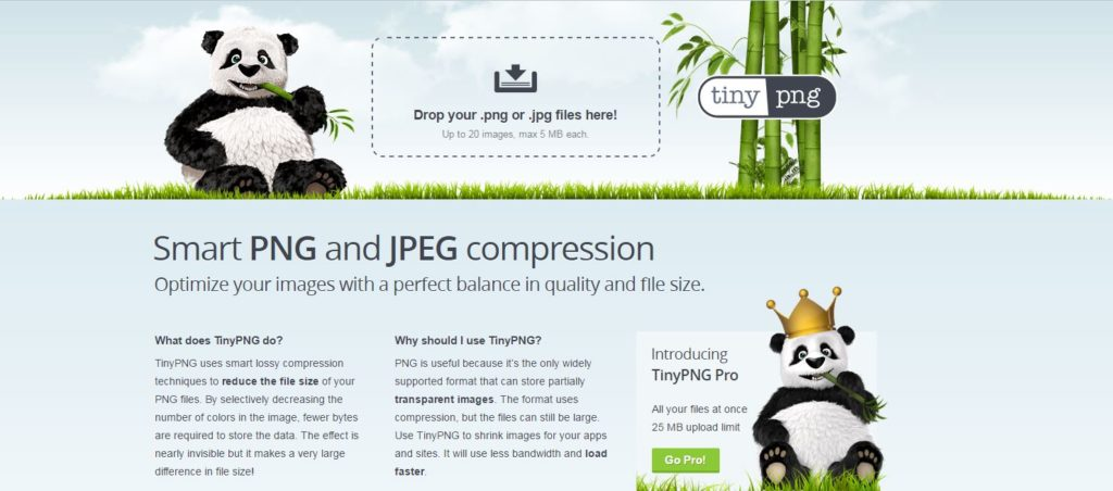 site de compression photo Tinypng