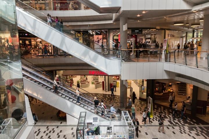 centre commercial contre boutique en ligne
